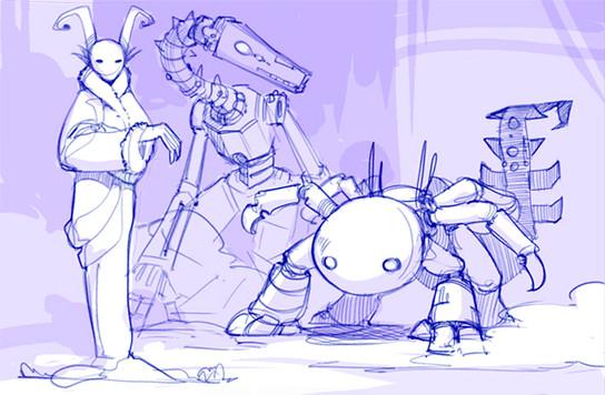 Character Art – Three Sisterbots