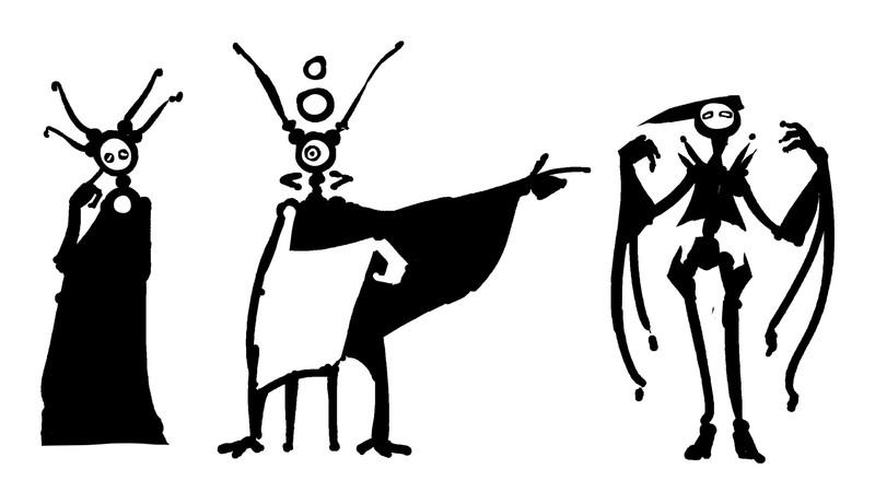 Wizrobot Silhouette Sketches