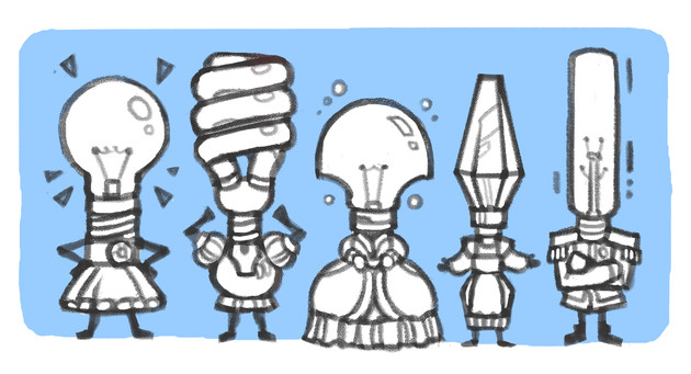 Object Head Sketches