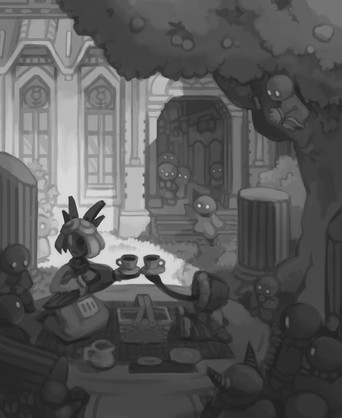 Environmental Illustration – Greyscale Study