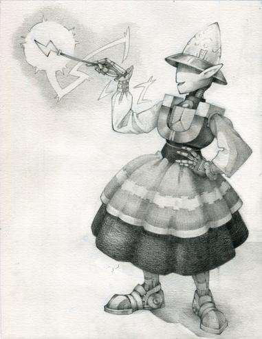 Character Art – Lightbulb Elf