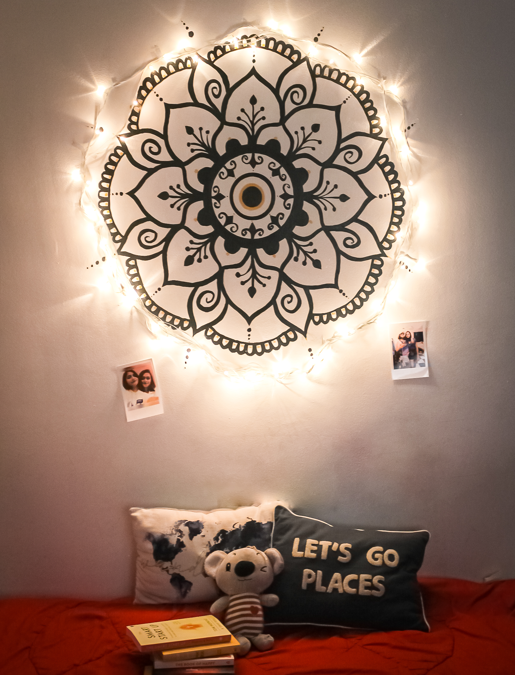 Simple and elegant wall mandala