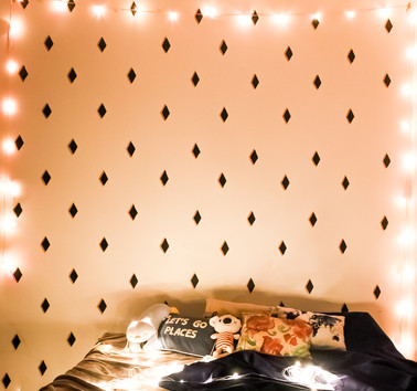 Black and white wall pattern