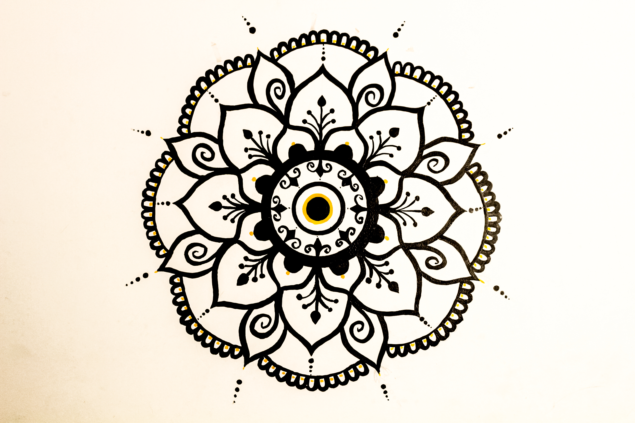 symmetrical wall mandala art