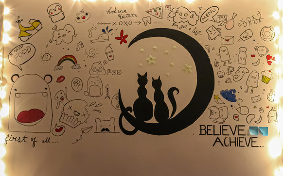 Doodle wall art