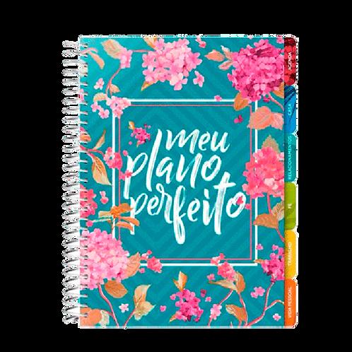 Agenda Meu Plano Perfeito Capa Floral