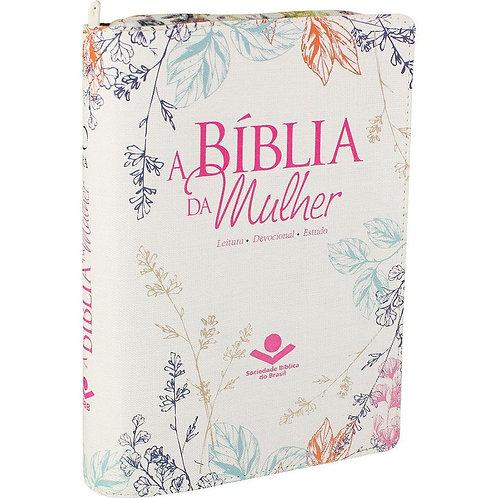 Bíblia da Mulher RA Com Índice e Zíper - Luxo Florida