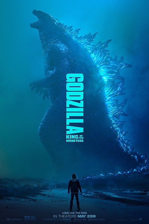 Godzilla King of the Monsters Decal Movie POSTER