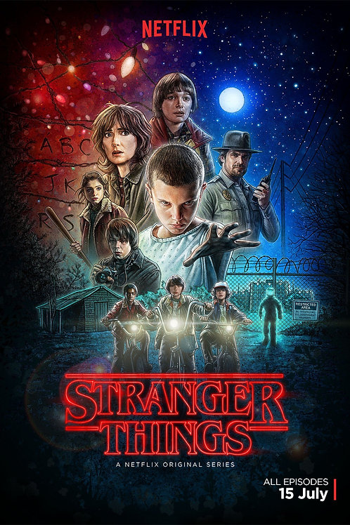 Stranger Things, Decal Poster 80's