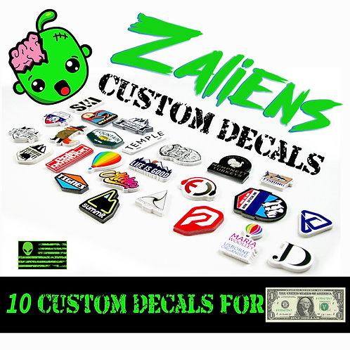 10 Custom Decals