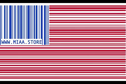 MIAA Barcode Flag Decal