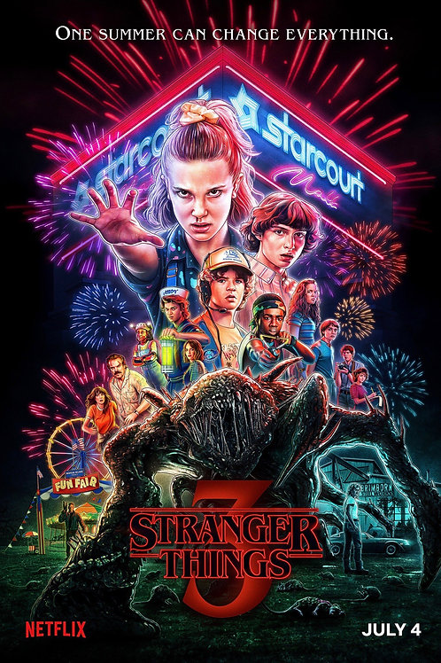 STRANGER THINGS Season 3, Decal Poster July 4th
