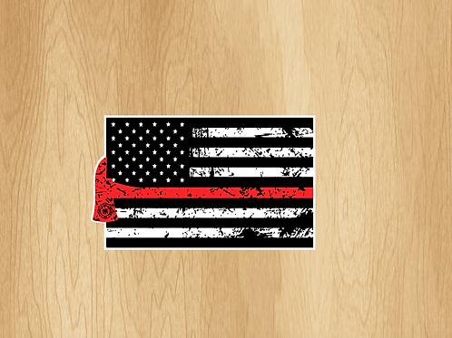 "USA Fire Fighter Flag 3""x5"""