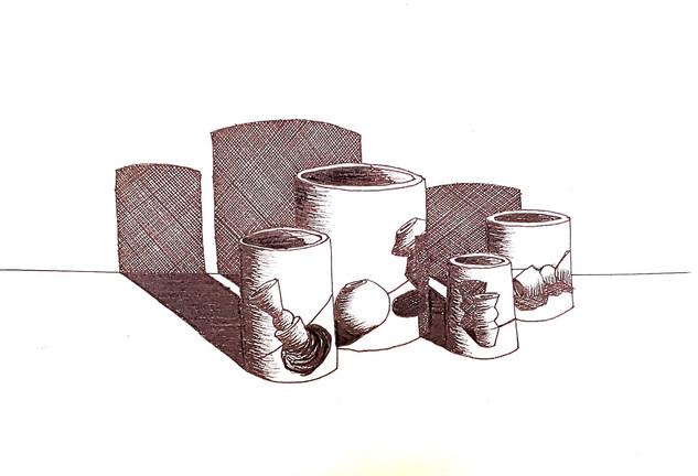 Vessel on Vessels Drawing