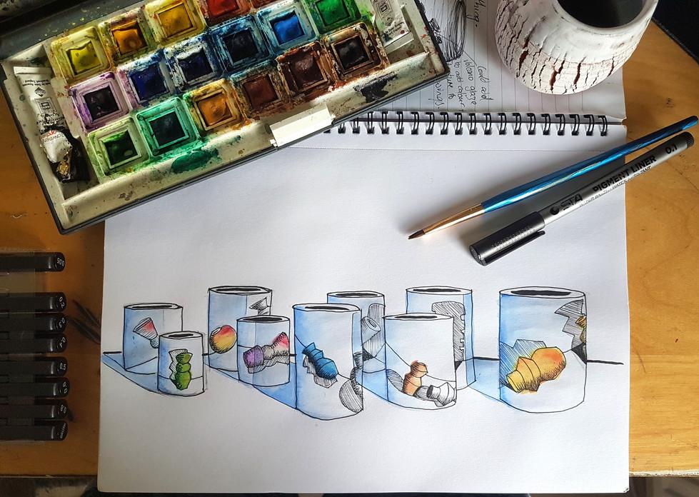 Vessels on Vessel Drawing