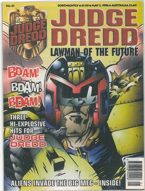 Judge Dredd Lawman of the Future 21