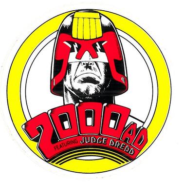 2000ad 80's Promo Sticker