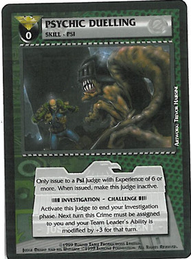 Dredd CCG: Resources - Psychic Duelling