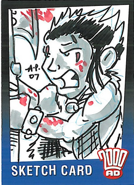Strictly Ink Sketch Card Slaine Amy Pronovost