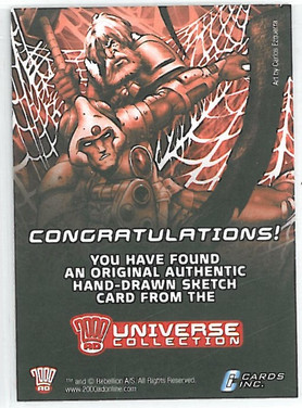 Strictly Ink Sketch Card Reverse 2