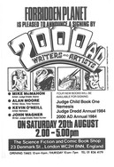 Forbidden Planet 2000ad Signing Flyer 1983