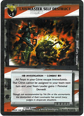 Dredd CCG: Incidents - Lawmaster Self Destruct