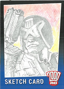 Strictly Ink Sketch Card Judge Dredd Carolyn Edwards