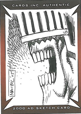 Strictly Ink Sketch Card Judge Death Colin MacNeil