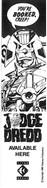 Judge Dredd Titan Books Bookmark 1986