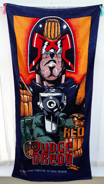 Judge Dredd Beach Towel