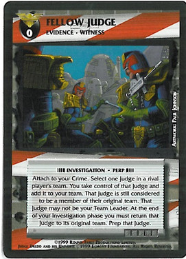 Dredd CCG: Incidents - Fellow Judge