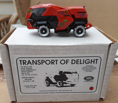 Red Coutesy Car from Judge Dredd Film