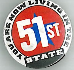 Crisis 51st State Badge Eighties