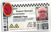 Planet Replicas Strontium Dog ID Card.
