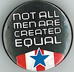 Crisis Not all Men are Created Equal Badge Eighties