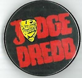 Judge Dredd Logo Black Badge Eighties