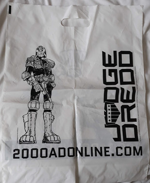 2000ad Judge Dredd Plastic Bag