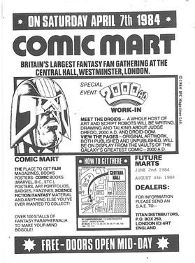 Comic Mart Flyer 1984.
