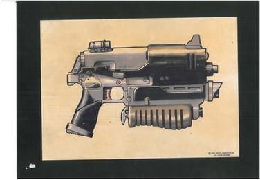 Judge Dredd 1995 Lawgiver Studio Print