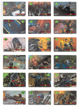P&J Promotions Judge Dredd Series 1 Display Folder Page 1