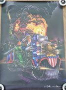 Mark Wilkinson Fine Art Prints Dredd on Lawmaster