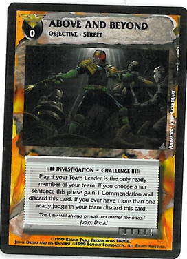Dredd CCG: Events - Above and Beyond