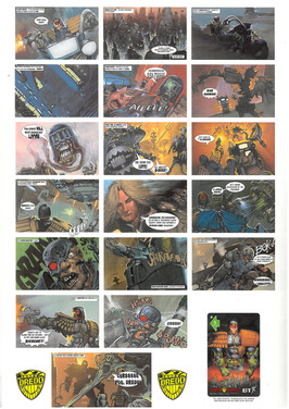 P&J Promotions Judge Dredd Series 1 Display Folder Page 2
