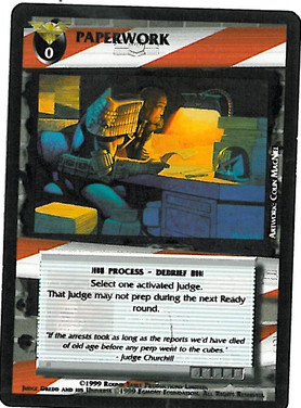 Dredd CCG: Incidents - Paperwork