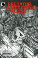 Predator vs Judge Dredd vs Aliens 4 Variant Cover