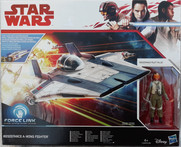 Resistance A-Wing Fighter with Resistance pilot Tallie