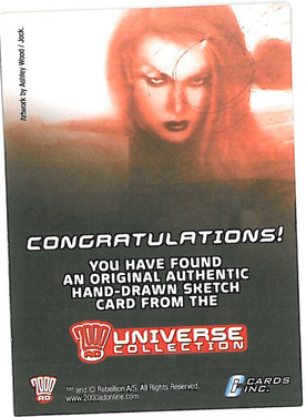 Strictly Ink Sketch Card Reverse 5