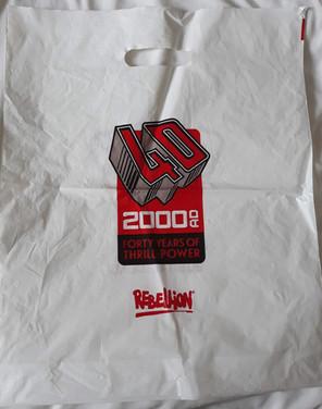 2000ad 40th Anniversay Plastic Bag