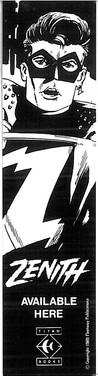 Zenith Titan Books Bookmark 1986