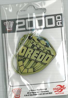 Judge Dredd Badge Keyring